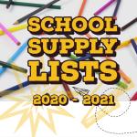 2020-2021 Supply Lists
